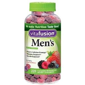 Vitafusion Men's Gummy Multivitamins, Natural Berry Flavors, 220 CtbyVitaFusion