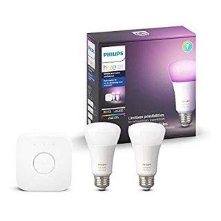 $89.99 (原价$149.99)Philips Hue A19彩色 智能灯泡入门套装