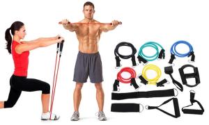 仅需$19/套  维密训练必备Groupon 健身专用橡胶弹力带(11件套)
