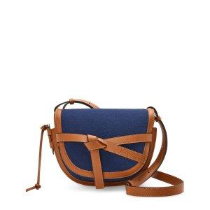 Loewe+ Paula's Ibiza Small Canvas-Calfskin Gate Bag | Harrods US