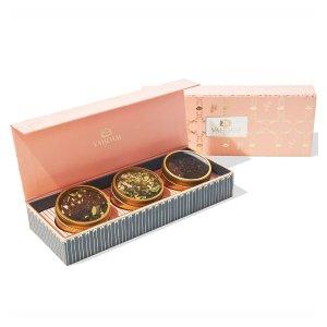 VAHDAMBLUSH Assorted Teas - 3 Tin Caddy Set
