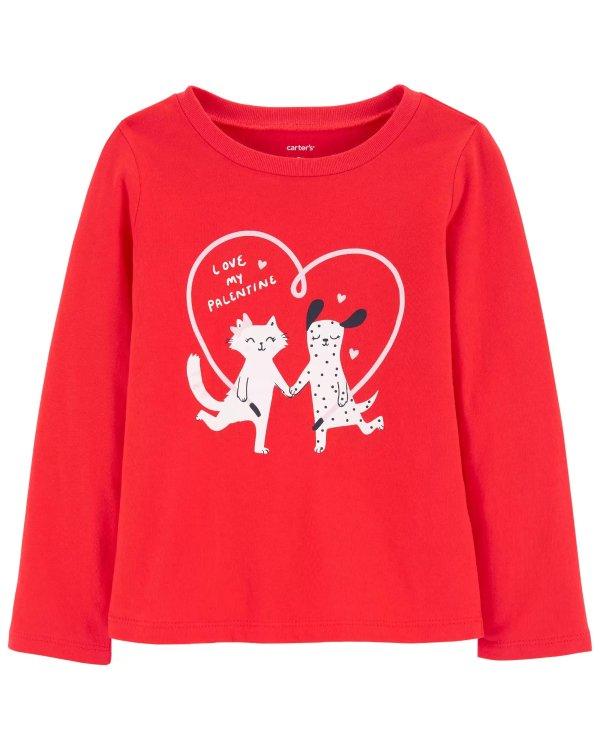 小童印花T恤