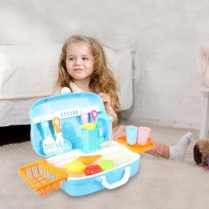 史低价:aovo 儿童电动超逼真厨房水槽,真的能出水哟