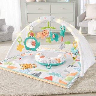 低至$9.34  封面款近史低价Fisher-Price 宝宝游戏健身毯、游戏椅、安抚玩具热卖