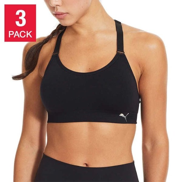 Puma 女士运动内衣 3件装