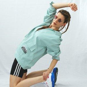 低至5折 封面款£40 断码快adidas 2021流行色灰蒙绿 夹克、束腿裤、运动鞋热卖