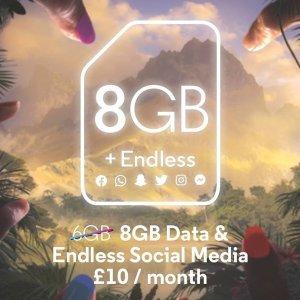 £10/月享受8GB豪华流量Voxi 3款增值套餐年末大促 欢迎来到不限流时代