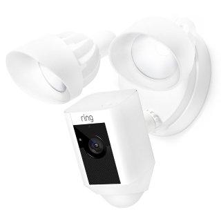 $189 黑白双色可选Ring Floodlight 室外监控摄像头带照明