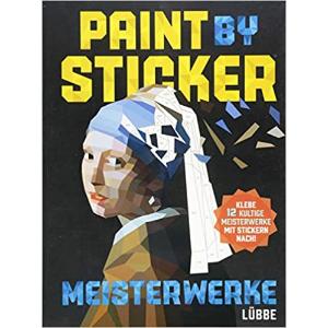 €10.05收名画版本Paint by Sticker 贴画书 杀时间利器 12幅名画轻松get