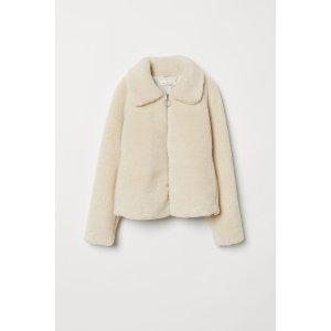 H&M羊羔绒外套