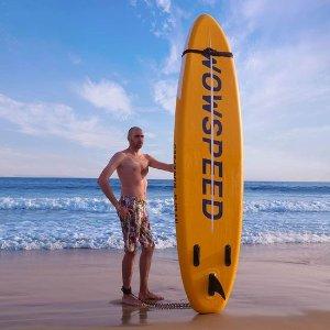 $199.99(原价$389.98)史低价:Hemousy 10.5英尺 SUP充气站立式桨板
