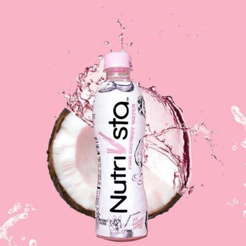 【只需发晒货】Nutrivsta纯天然粉色椰子水