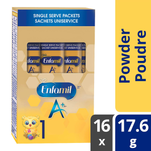 现价$11.11(原价$16.98)Enfamil A+ 婴儿配方1段 便携独立包装 281.6g 16包