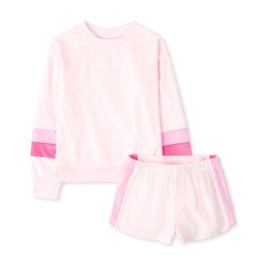 The Children's PlaceGirls Mommy And Me Long Sleeve Striped Matching Velour Pajamas