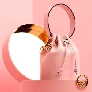 仅$692.99(原价$1290)史低价:Fendi  Mon Tresor少女粉水桶包 变相5.4折
