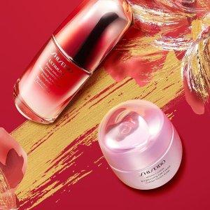 低至4.9折 €25.79收艳阳防晒霜Shiseido 资生堂全线热促 收限定版红腰子精华、光透耀白面霜
