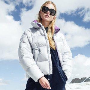 BosidengPUFF系列鹅绒羽绒服女2018短款保暖外套