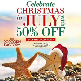 50% offThe Popcorn Factory Christmas in July Celebration