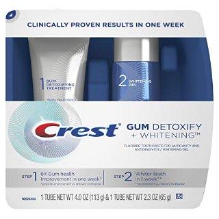 $11.79 保持口气清新Crest 牙龈健康 +美白抛光牙膏两件套