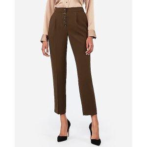 Express第2件半价高腰褶皱休闲裤
