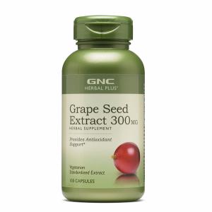 GNC美白圣品葡萄籽精华300MG, 100粒