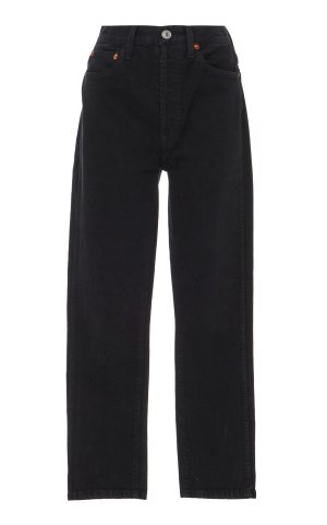 Re/Done Originals High-Rise Double Needle Cropped Jeans