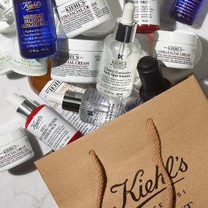 低至7.5折Kiehl's 护肤套装热卖 收淡斑精华、高保湿面霜