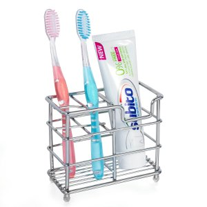 $6.79hblife Stainless Steel Bathroom Toothbrush Holder Toothpaste Holder Stand