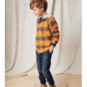低至2.7折 $8/条起Oshkosh Bgosh官网 0-14岁儿童新款牛仔裤促销 款式尺寸都多