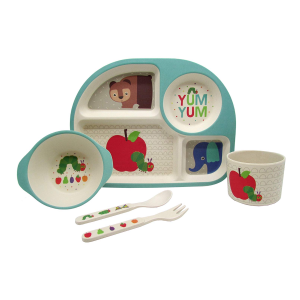$12.54(原价$36.39)Kids Preferred 卡通餐具套装 无敌可爱让孩子爱上吃饭