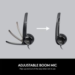 $24.99(原价$59.99)史低价:Logitech H390包耳式耳机 可折叠降噪麦克风