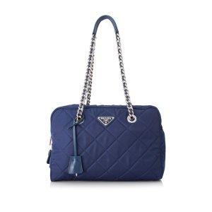 PradaPre-Owned Prada Tessuto Impuntu Shoulder Bag