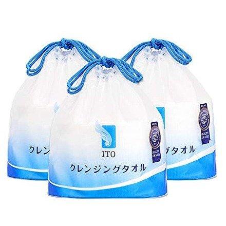 日本纯棉加厚洗脸巾 3卷240抽