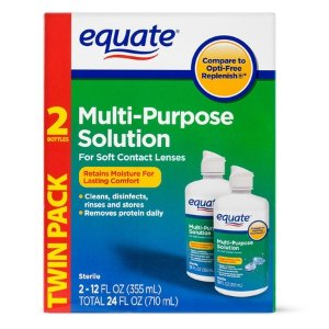 $5.98Equate Sterile Multi-Purpose Contact Solution,2PK
