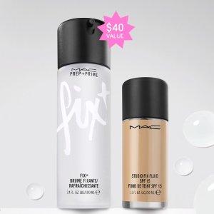 新会员享9折M.A.C 专业彩妆 买粉底液送正装定妆喷雾 持久底妆完美搭配