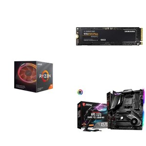 $514.99 强强联合AMD Ryzen 7 3800X +  MSI MPG X570 暗黑 + 970 EVO Plus 500GB
