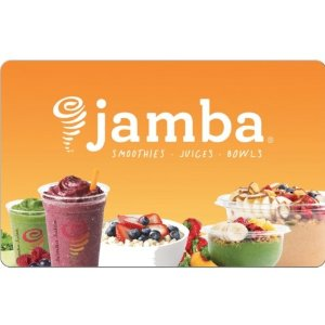 20% offJamba Juice $25 E-Gift Card for only $20 @ ebay