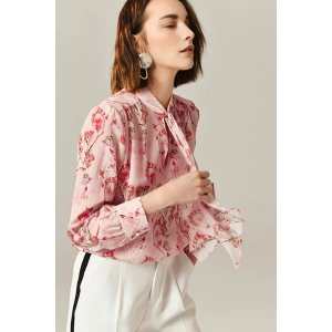 Ecru EmissaryLaura Silk Blouse