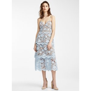 Self-PortraitFlower Lace midi dress
