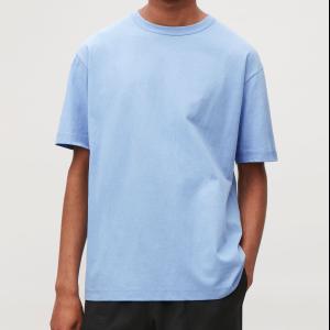 LONG COTTON T-SHIRT  - Fresh sky - T-shirts - COS
