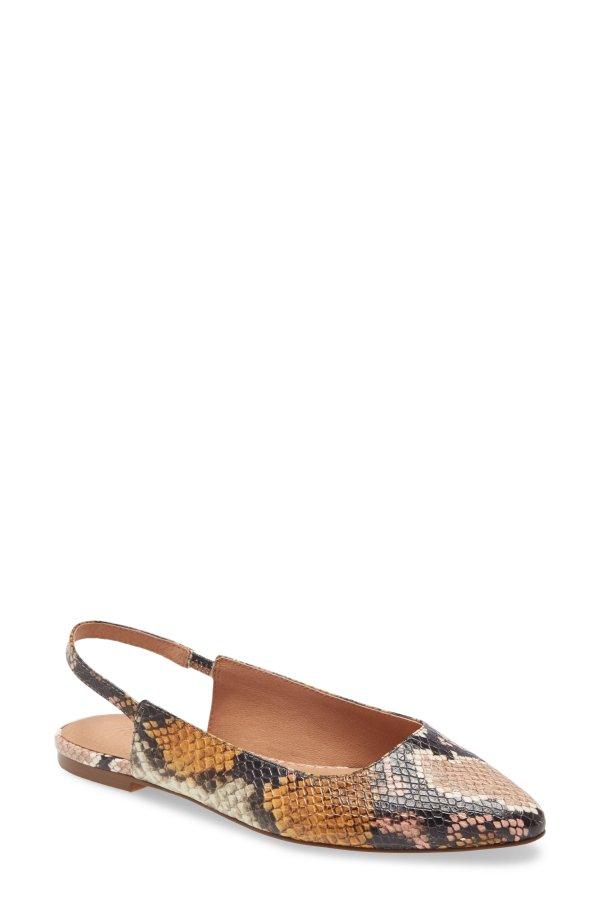 蛇纹平底鞋