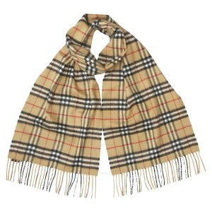 BurberryClassic Vintage Check Cashmere Scarf- Antique Yellow