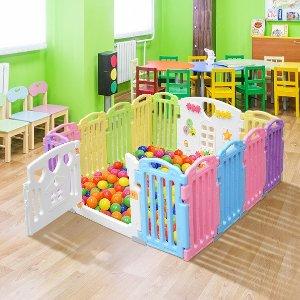 围栏低至$11.5/块 单品包邮儿童游乐围栏、玩乐地垫热卖 好清洁易收纳 宅家轻松带娃