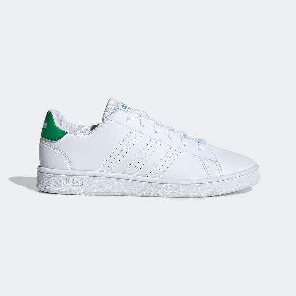 Advantage绿尾小白鞋大童款