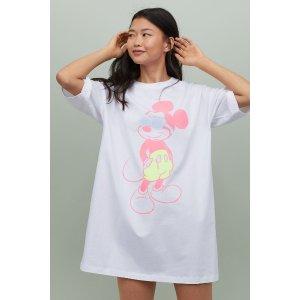 H&M全棉睡衣连衣裙