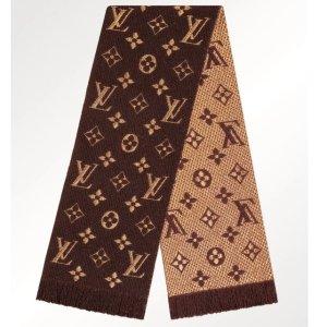 老花款有货 中国红£295补货:Louis Vuitton 精致围巾全上新 秋冬不可不收的必败单品