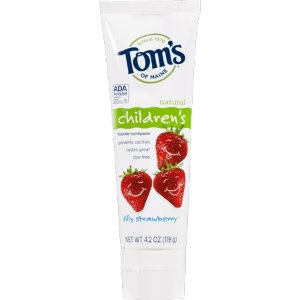 Tom's of Maine Children's Natural Fluoride Toothpaste Silly Strawberry - 4.2 oz