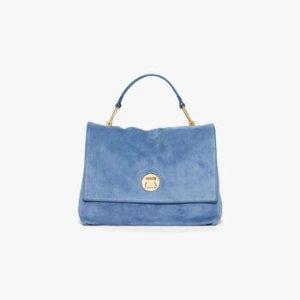 Liya雾霾蓝手提包