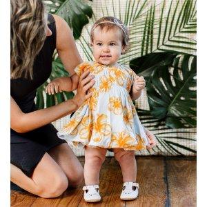 Burt's Bees Baby女婴有机棉连衣裙