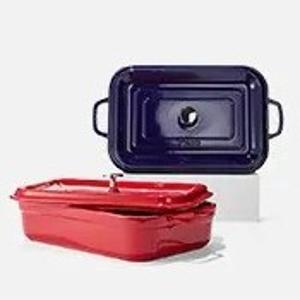 $99.99(原价$199.99)Staub 4.5寸长方形带盖烤盘2色选惊喜价,厨具届的颜值担当
